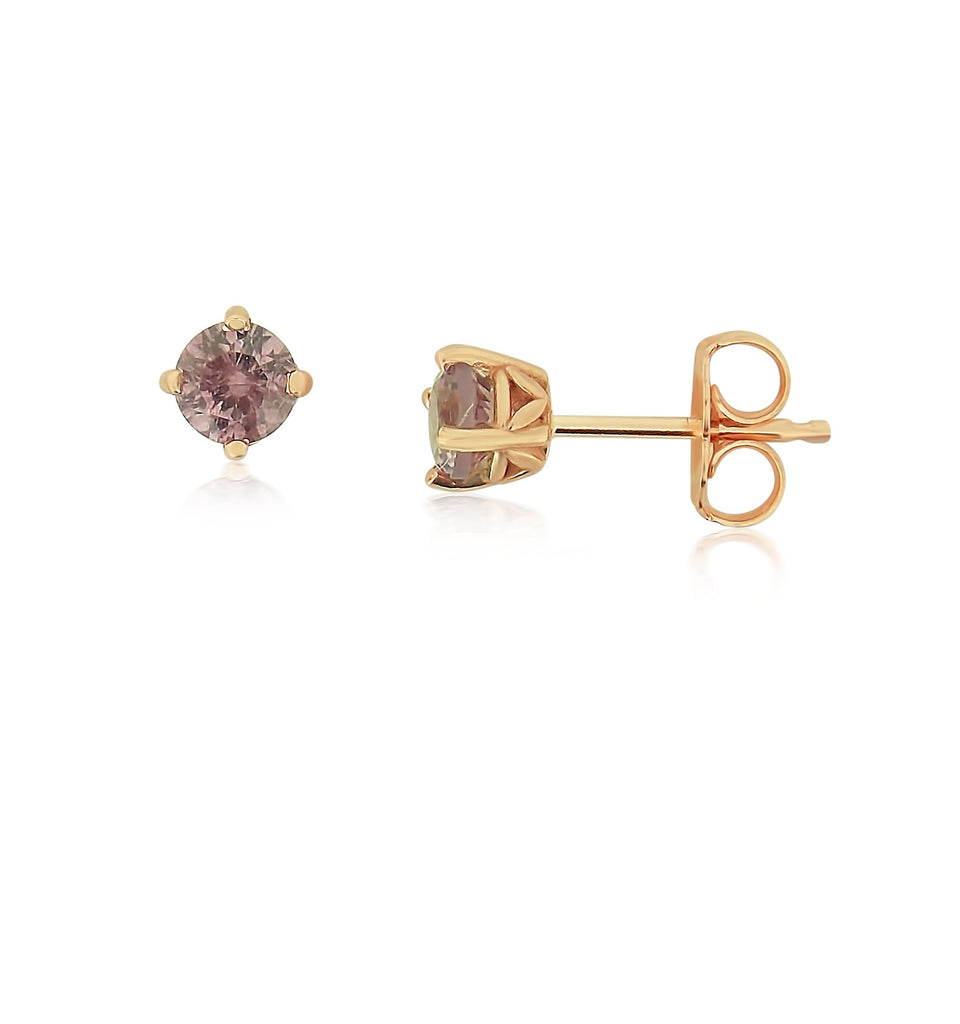 Mahenge Pink Garnets Rose Gold Earrings
