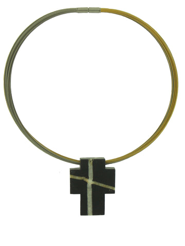 Swiss Rhine River Cross Pendant