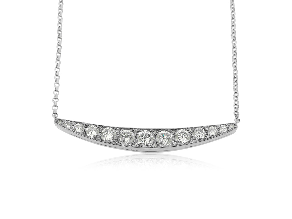Cresent Diamond Necklace