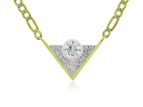 Dimensional Diamond Pendant