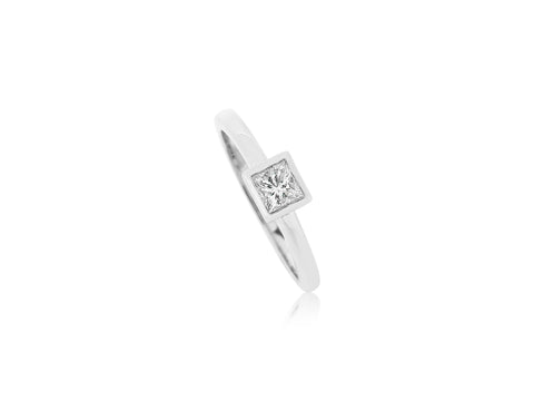 Square Cut Diamond Ring