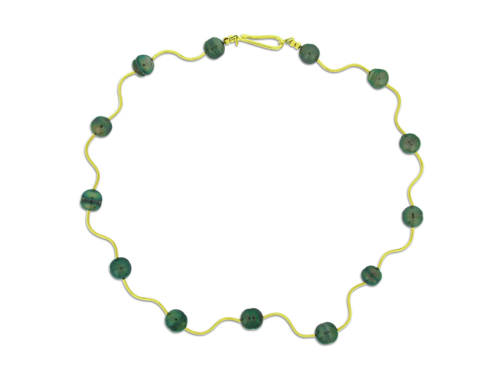 Tahitian Pearl and Gold Collar Necklace