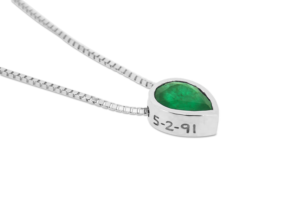 Emerald Birthdate Pendant