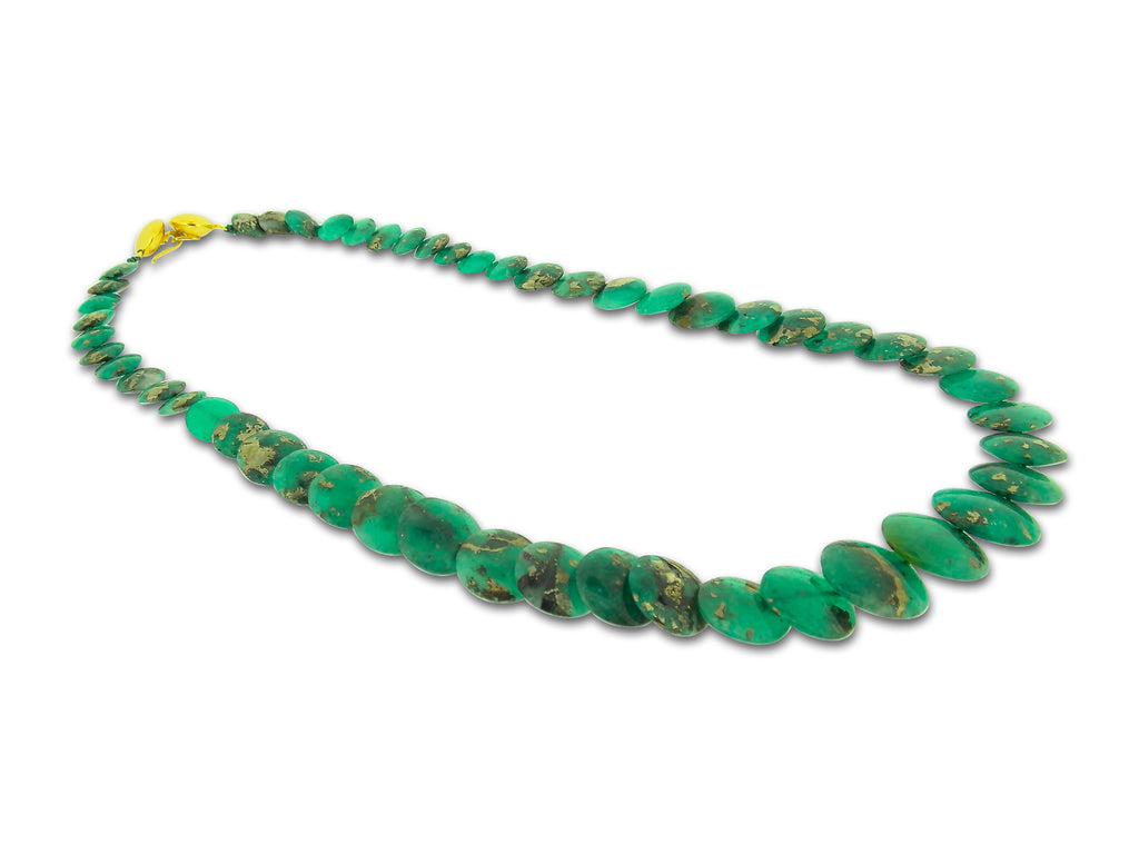 Emerald Disc Necklace