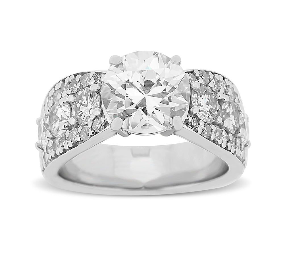 Spectacular Wide Paved Diamond Ring