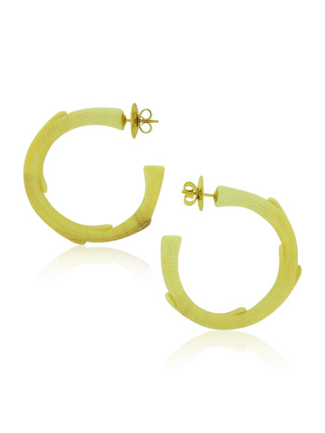 Woolly Mammoth Ivory Hoop Earrings