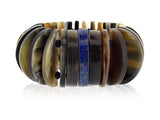 Lapis and Buffalo Horn Bracelet
