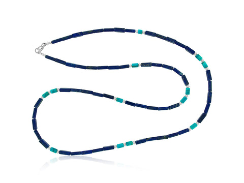 Lapis and Turquoise Long Necklace
