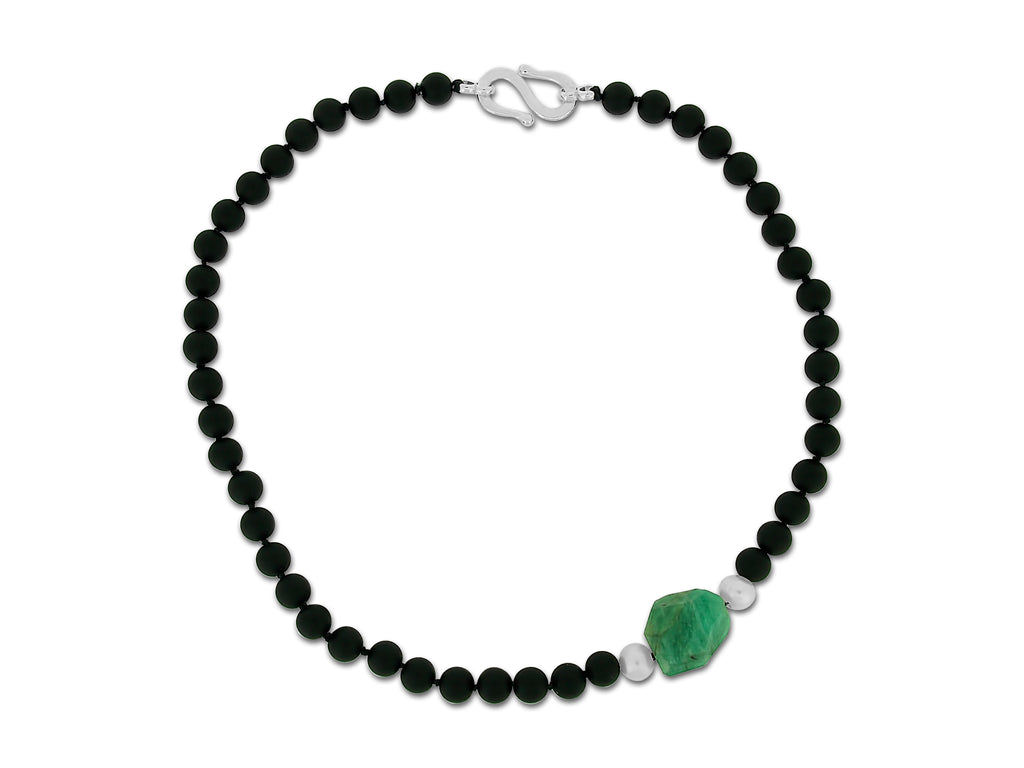 Emerald and Onyx Necklace