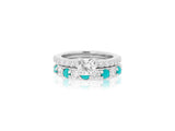 Turquoise and Diamond Engagement Ring Set