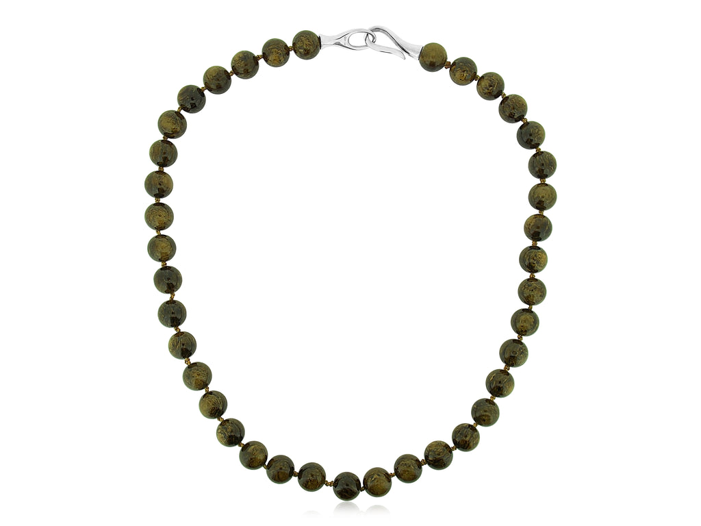 Brown Spanish Marble Necklace