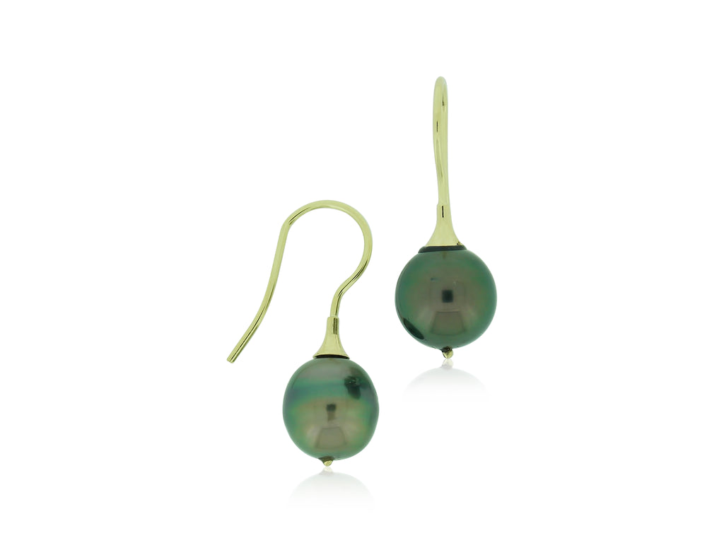 French Wire Tahitian Pearl Earrings