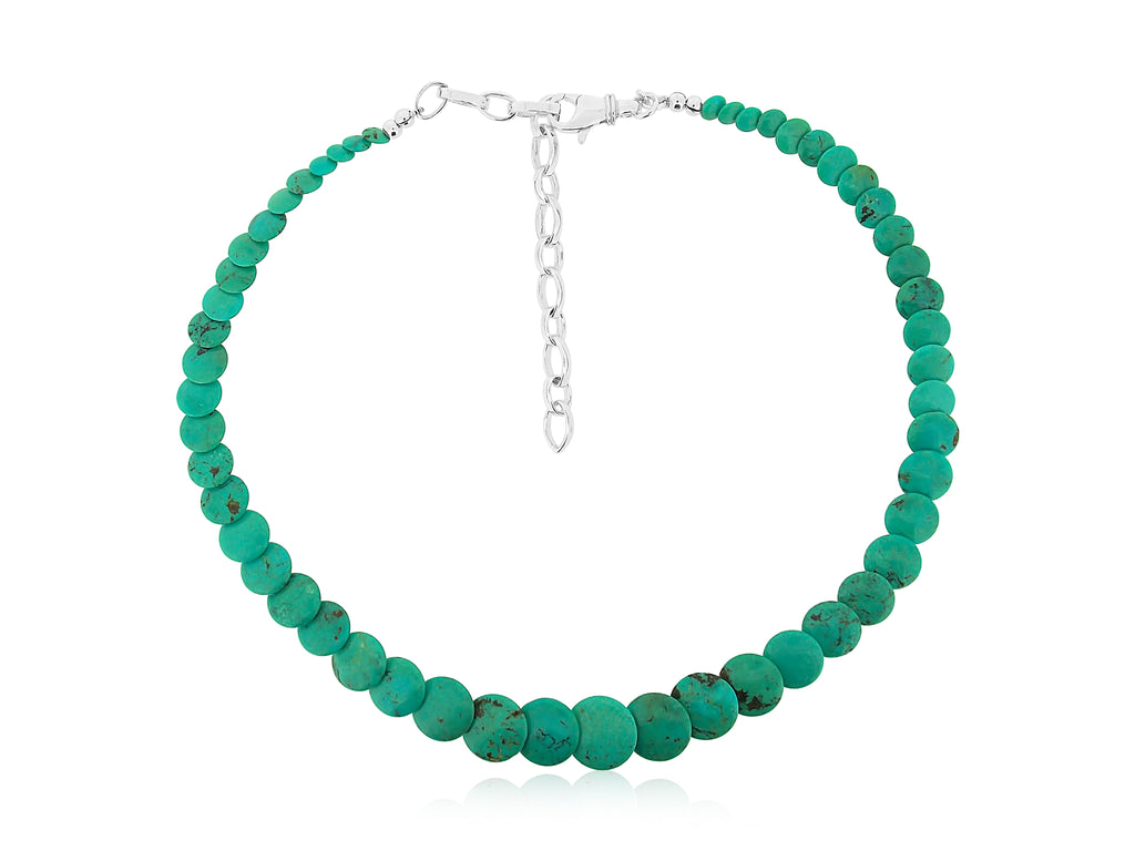 Kingman Turquoise Disc Necklace
