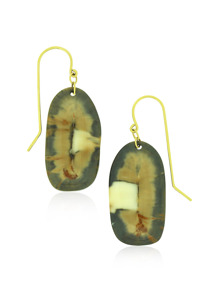 Fossilized Walrus Ivory Earrings