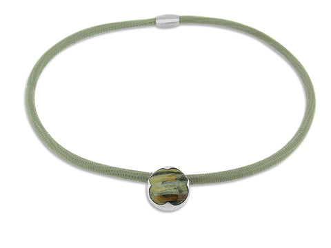 Fossilized Ivory with Light Grey Cord