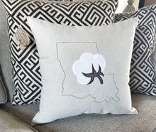 Load image into Gallery viewer, Louisiana Cotton Boll Pillow (P-SC-127)