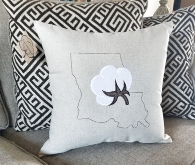 Louisiana Cotton Boll Pillow