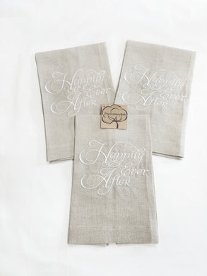 Happily Ever After Linen Towel (T-WE-117)