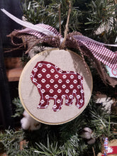Load image into Gallery viewer, Bulldog Applique Farmhouse Christmas Ornament