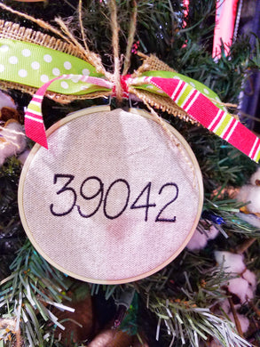 Zip Code Farmhouse Christmas Ornament (F-LC-111)