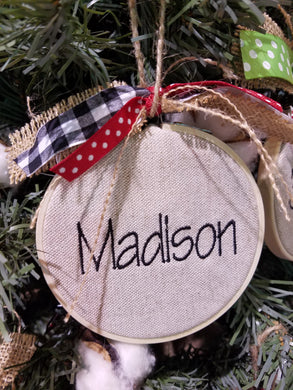 Personalized Farmhouse Christmas Ornament (F-LC-121)