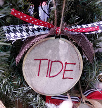 Load image into Gallery viewer, Team Name Farmhouse Christmas Ornament
