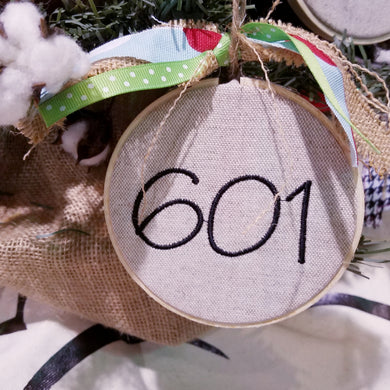 Area Code Farmhouse Christmas Ornament (F-LC-112)