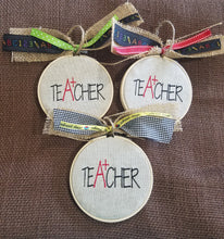 Load image into Gallery viewer, Teacher Farmhouse Christmas Ornament (F-CA-128)