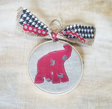 Elephant Farmhouse Christmas Ornament (F-SP-117)