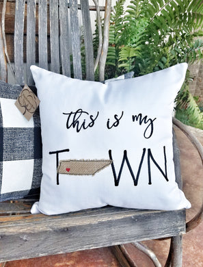 This is My Town Pillow (P-LC-136)