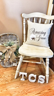 Amazing Grace Cotton Boll Pillow (P-SC-112)