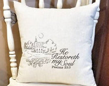 Load image into Gallery viewer, He Restoreth My Soul Pillow (P-FL-124)