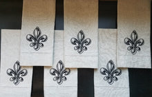 Load image into Gallery viewer, Fleur de Lis Linen Towel (T-DE-116)