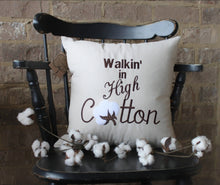 Load image into Gallery viewer, Walkin' In High Cotton Pillow (P-SC-137)