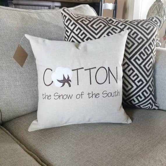 Cotton Snow of the South Pillow (P-SC-116)
