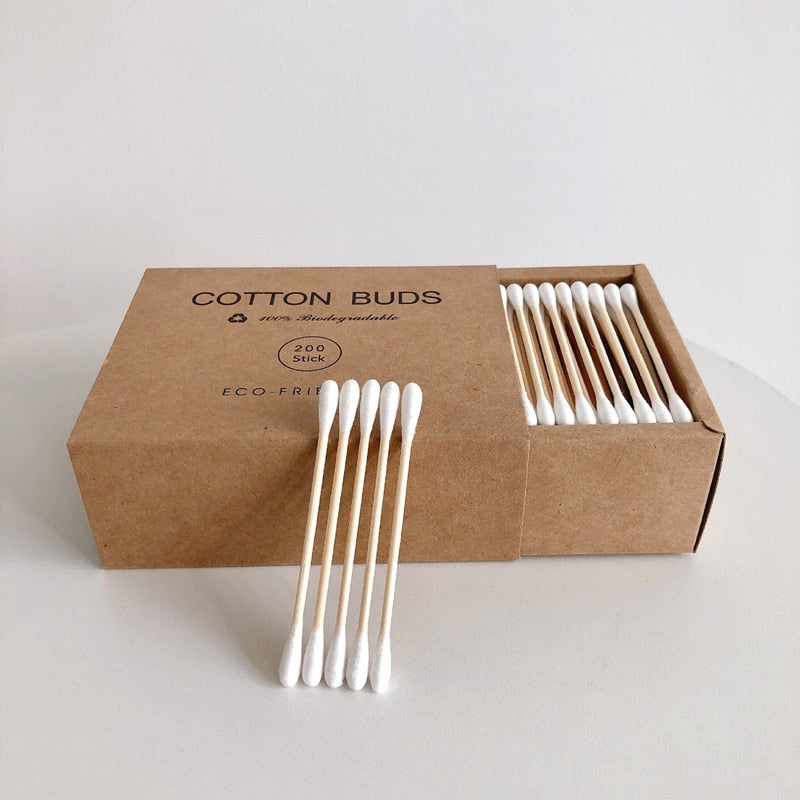 Bamboo Cotton Swabs (200pcs) - Onedegreeworld