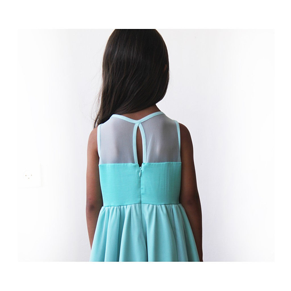 Sweetheart Turquoise flower girl dress - Brownie Sparkles - 5