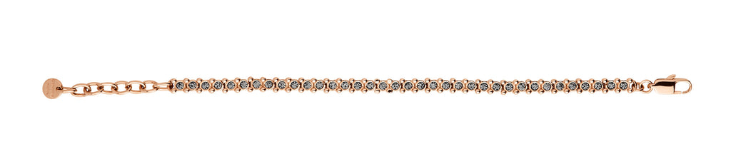 Dyrberg/Kern Nivalis Rose Gold Smoky Grey Crystal Tennis Bracelet - Brownie Sparkles - 2