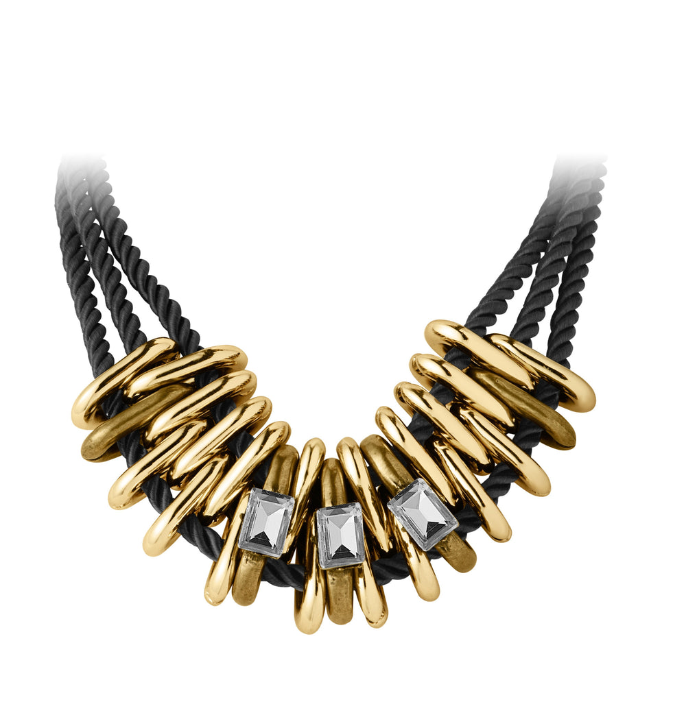Dyrberg/Kern Feposa Black Gold Necklace - Brownie Sparkles