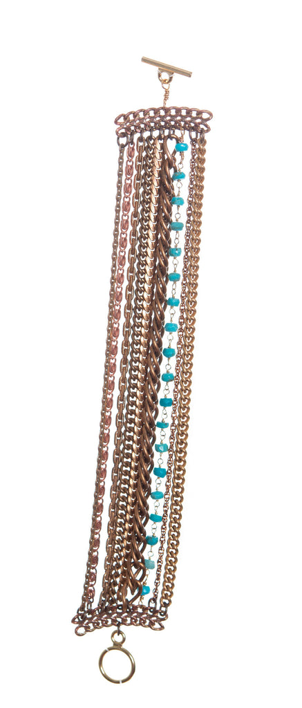 Hailey Gerrits Turquoise Multistrand Vintage Chain Bracelet - Brownie Sparkles