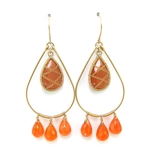 Leah Carnelian Earrings - Brownie Sparkles