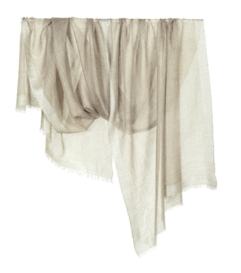 Tilo Gold Beige Cashmere Evening Wrap - Brownie Sparkles