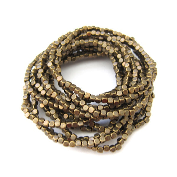 Karine Sultan 15 Strand Oxidized Brass Stackable Beaded Bracelet - Brownie Sparkles