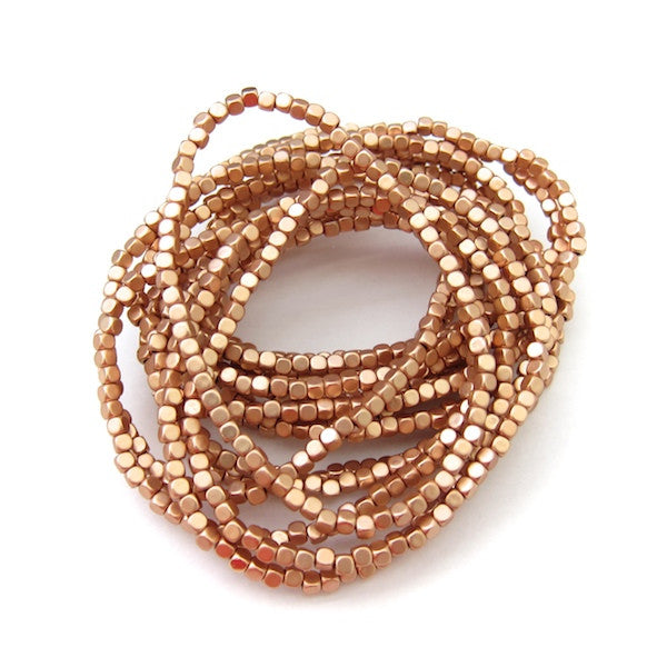 Karine Sultan 15 Strand Stackable Beaded Rose Gold Bracelet - Brownie Sparkles