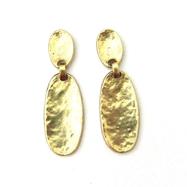 Karine Sultan Double Oval Gold Oxidized Earrings - Brownie Sparkles