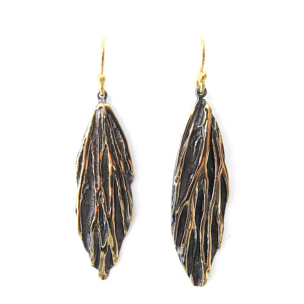 Passion Sculptured Leaf Earrings - Brownie Sparkles
