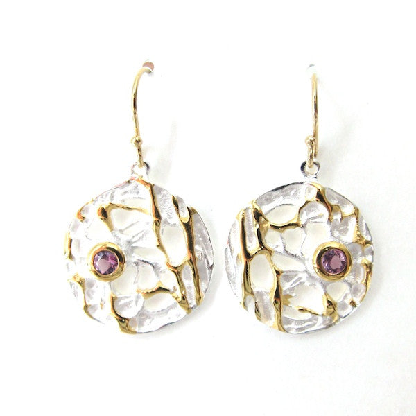Passion Amethyst Coin Earrings - Brownie Sparkles