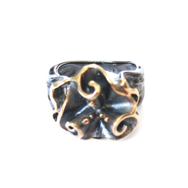 Passion Sculptural Floral Ring - Brownie Sparkles