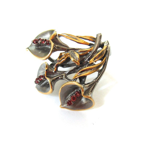 Passion Tulip Garnet Ring - Brownie Sparkles - 1