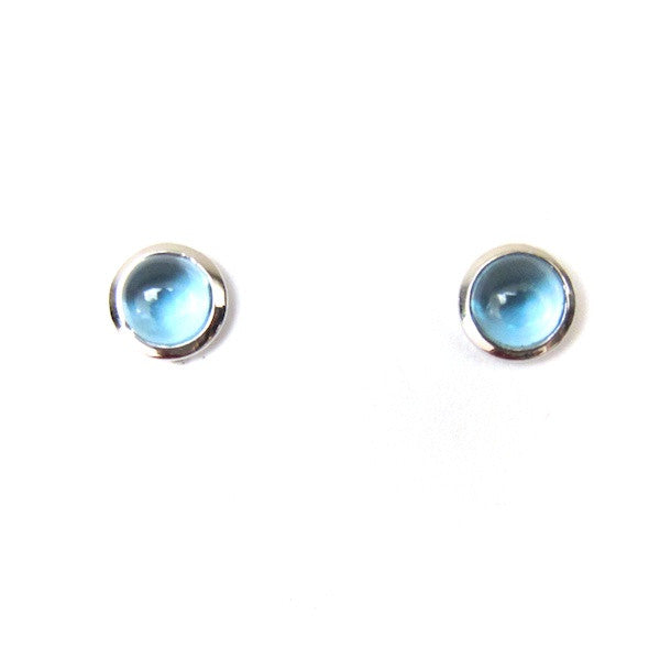 ToffeeTaffy Cabochon Topaz Stud Earrings - Brownie Sparkles